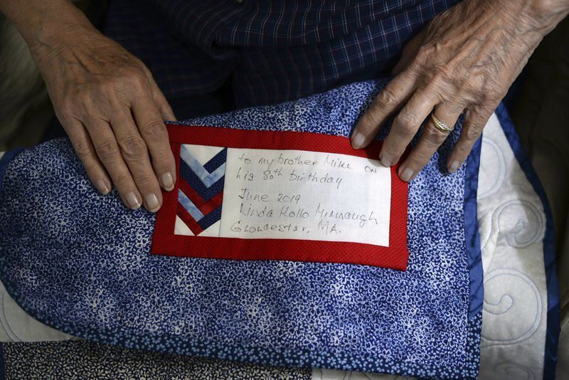 Woman crafts quilts in hopes they help heal veterans' wounds of war