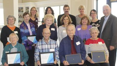 Volunteers honored for years of service