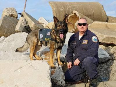 Local firefighter's dog earns FEMA certification
