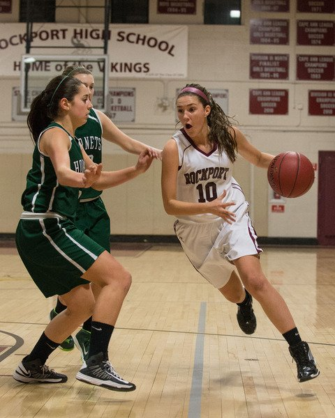 Desi Smith /Gloucester Daily TimesRachel Haselgard and the Rockport girls  basketball team will have its hands full on Tuesday against No. 2 Pope John.