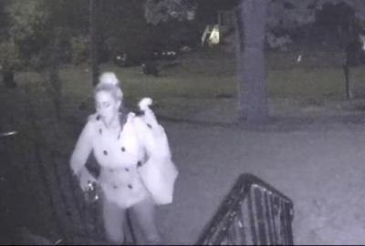 Police seek information on woman caught on camera