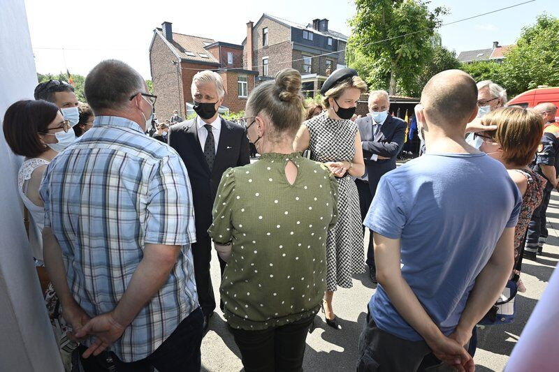 Belgium's royals lead a day of mourning for flood victims