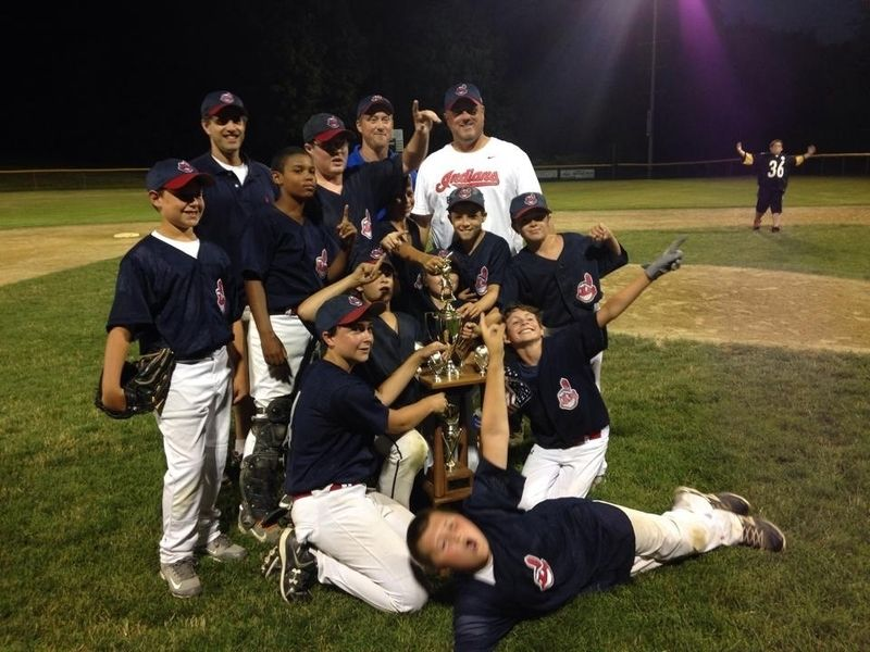 413a97d50 The Gloucester Little League Majors A champion Indians pose with the  championship trophy after winning the title last weekend.