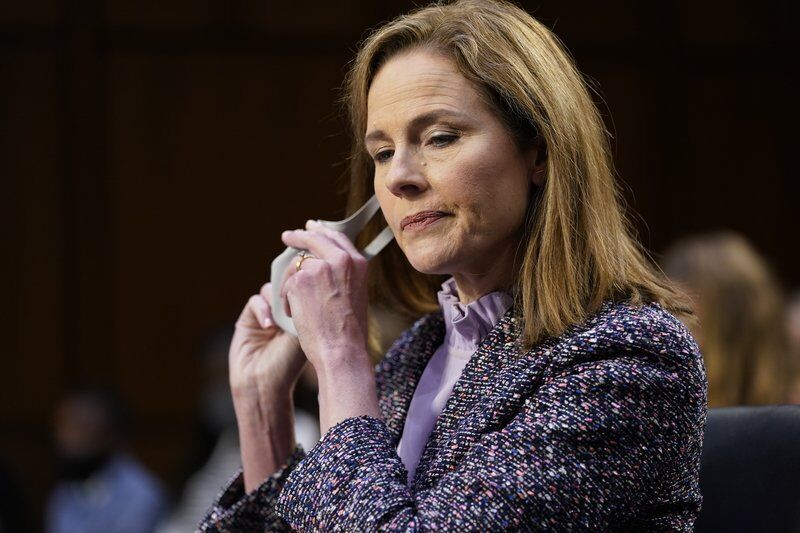 Barrett tells doubtful Dems she'd keep open mind on court