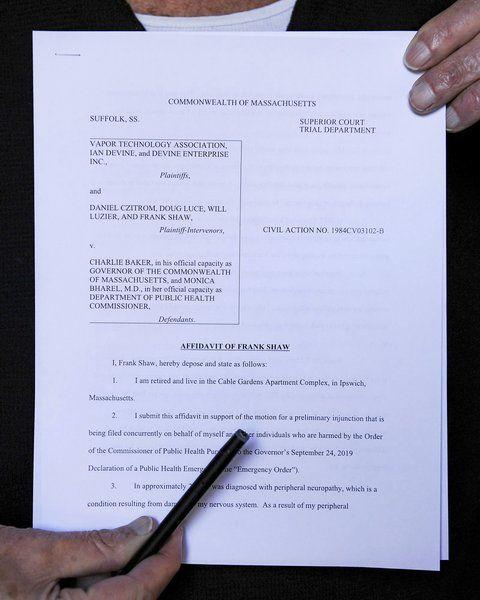 Medical pot users sign onto vaping ban lawsuit