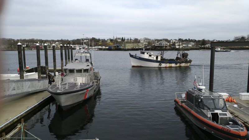 Fishermandies after falling overboard