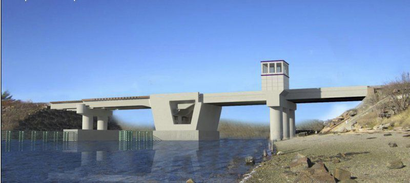 Readying for rail bridge rebuild