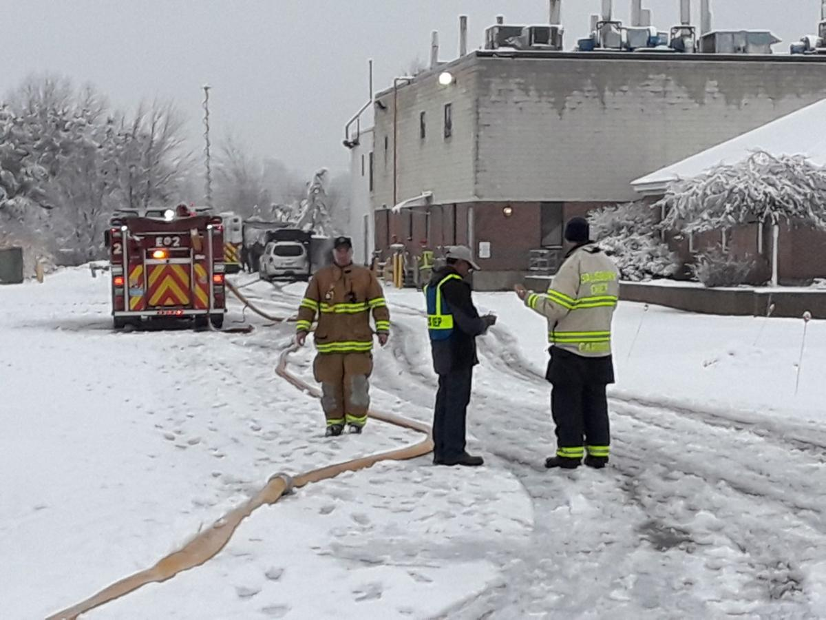Firefighters at scene