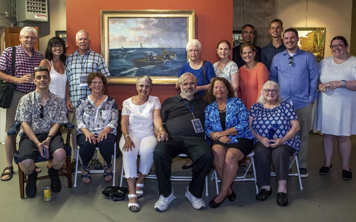 Artist showcases piece of fishing heritage
