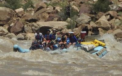 Outdoors: White water rafting on the Colorado River
