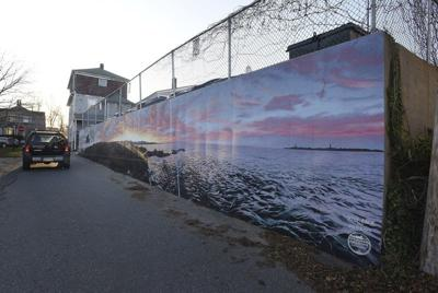 Stone Barn Lane mural completed