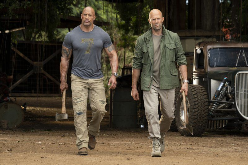 Movie review: In 'Furious' spinoff, co-stars Kirby, Elba take the wheel