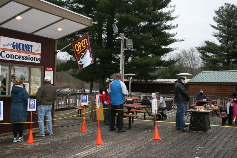 Ski area uses outdoor heaters to create COVID-19 safe space