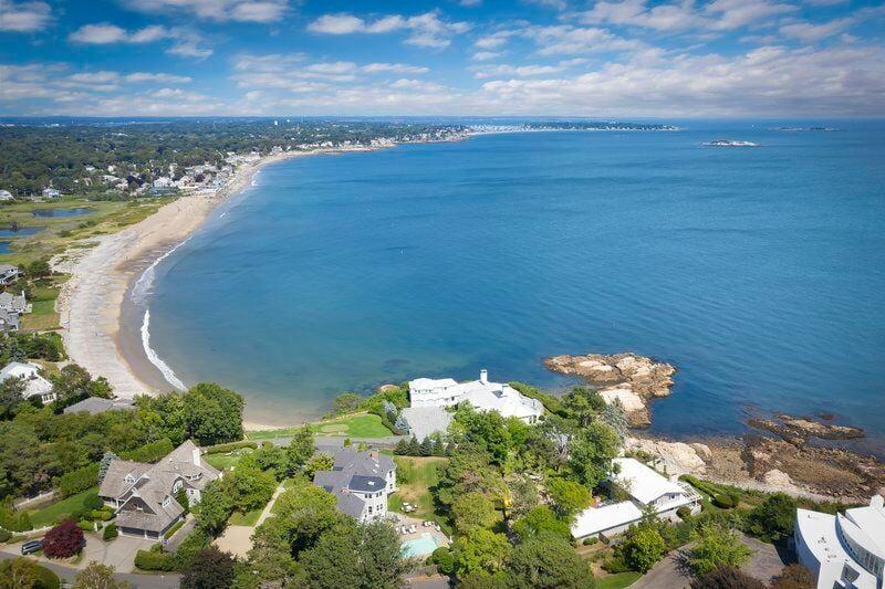Luxurious oceanfront living on Swampscott's sought-after Little's Point