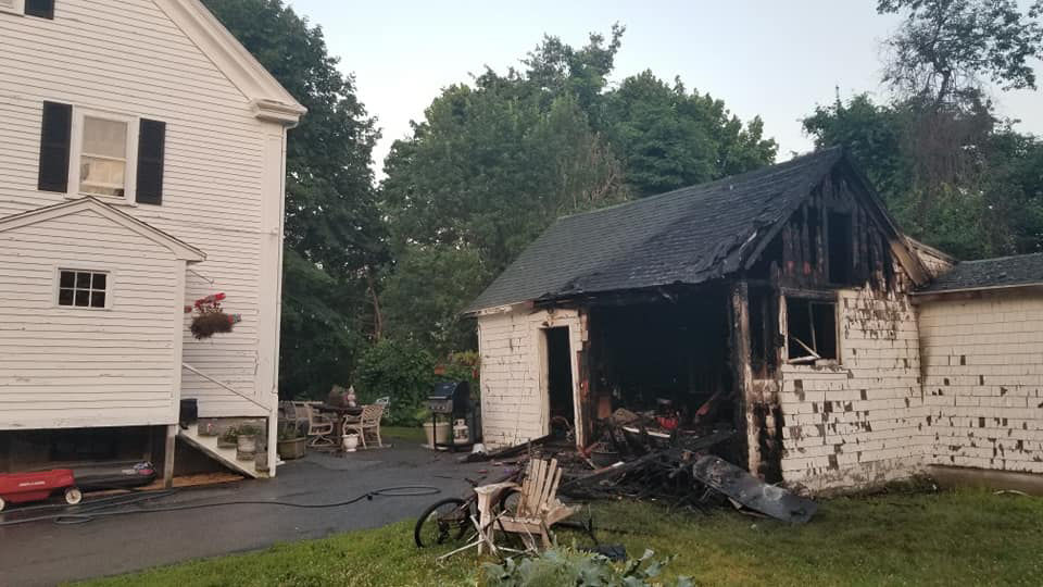 Fire damages Essex barn