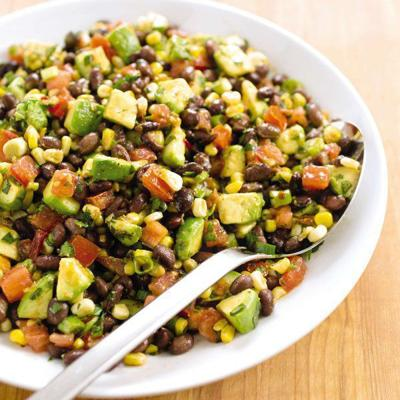 Keep it light and bright with beans, corn and avocado