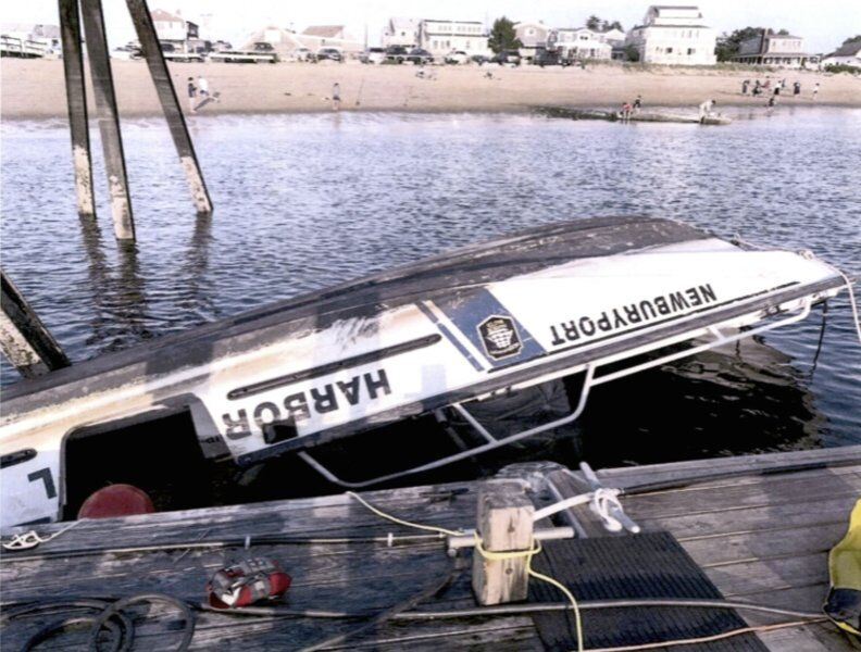 Capsized harbormaster's boat deemed 'total loss'