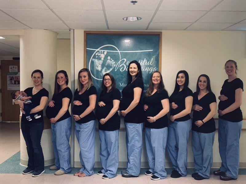 Baby Fever: 9 Pregnant Nurses In Local Maternity Ward