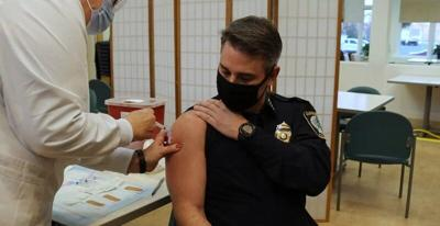 Fire and police chiefs get first dose of Moderna vaccine