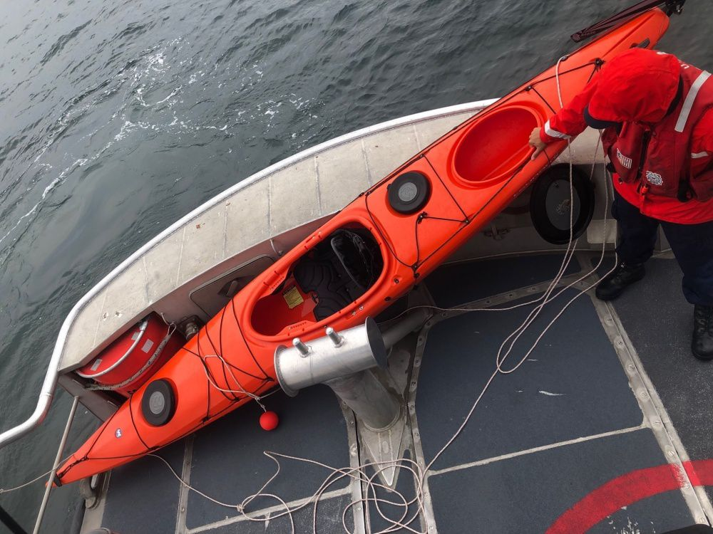 Kayaker floats for 3 hours before rescue