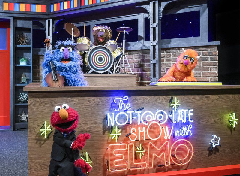 Elmo the Muppet readies for his own starry talk show