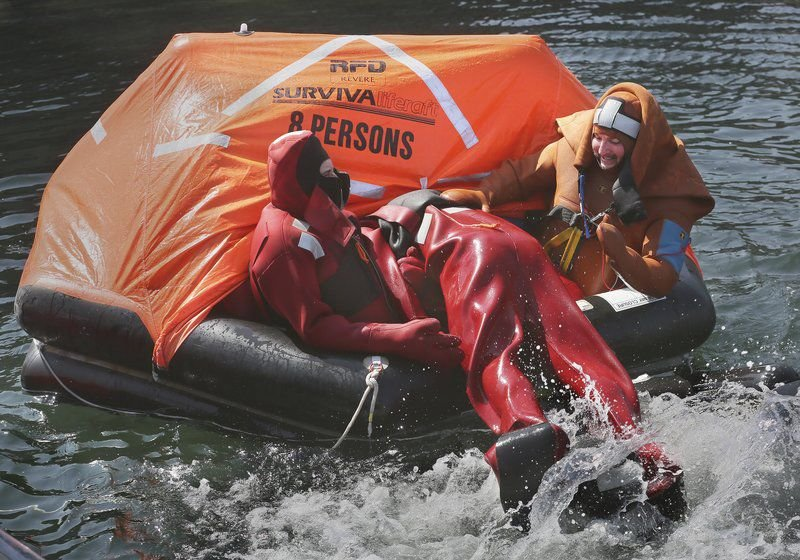 Water rescue needed during at-sea training