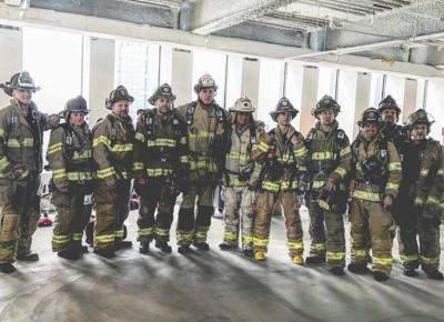 Talk of the Times: Firefighters climbing 789 steps to fight lung cancer