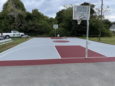 Rockport couple funds outdoor basketball court renovations at Rockport Public Schools