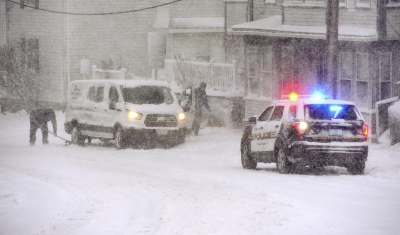 Nor'easter makes for slippery commute