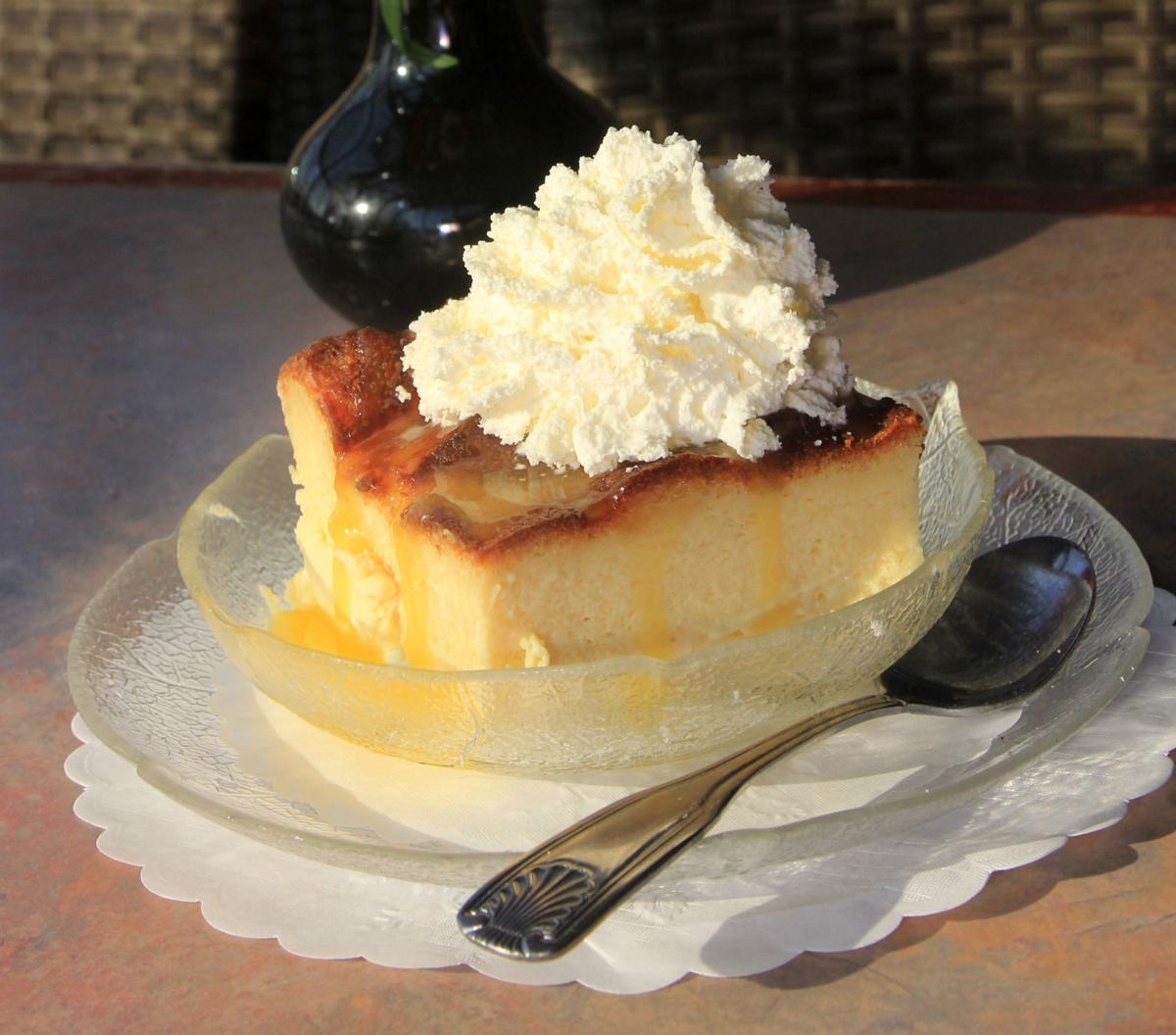 The Village Restaurant's White Chocolate Bread Pudding with ...