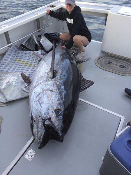 Teen's first tuna catch a big one