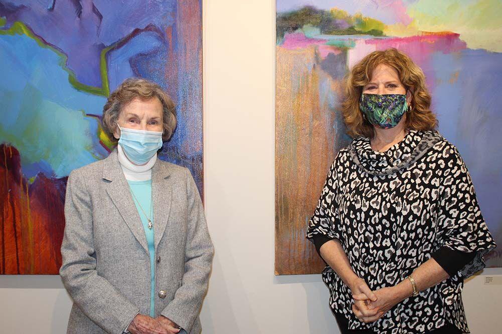 Joyce Ledingham, left, and Ella Cart