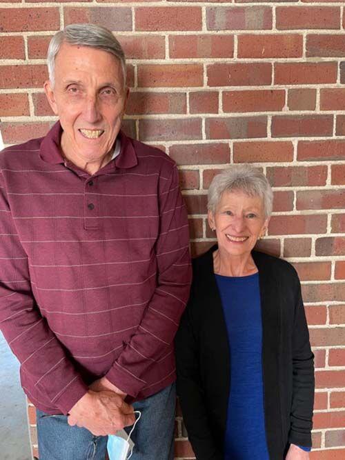 Eddie Rogers, left, and Nancy Bradley