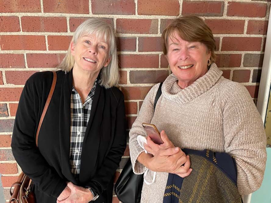 Theresa Brown, left, and Kathy Currier