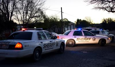 Sheriff's vehicles, early morning
