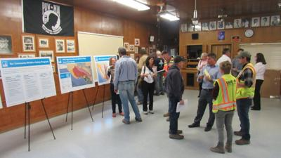 Community members attended a public outreach meeting to learn about PG&E's program