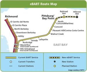 eBart Route map