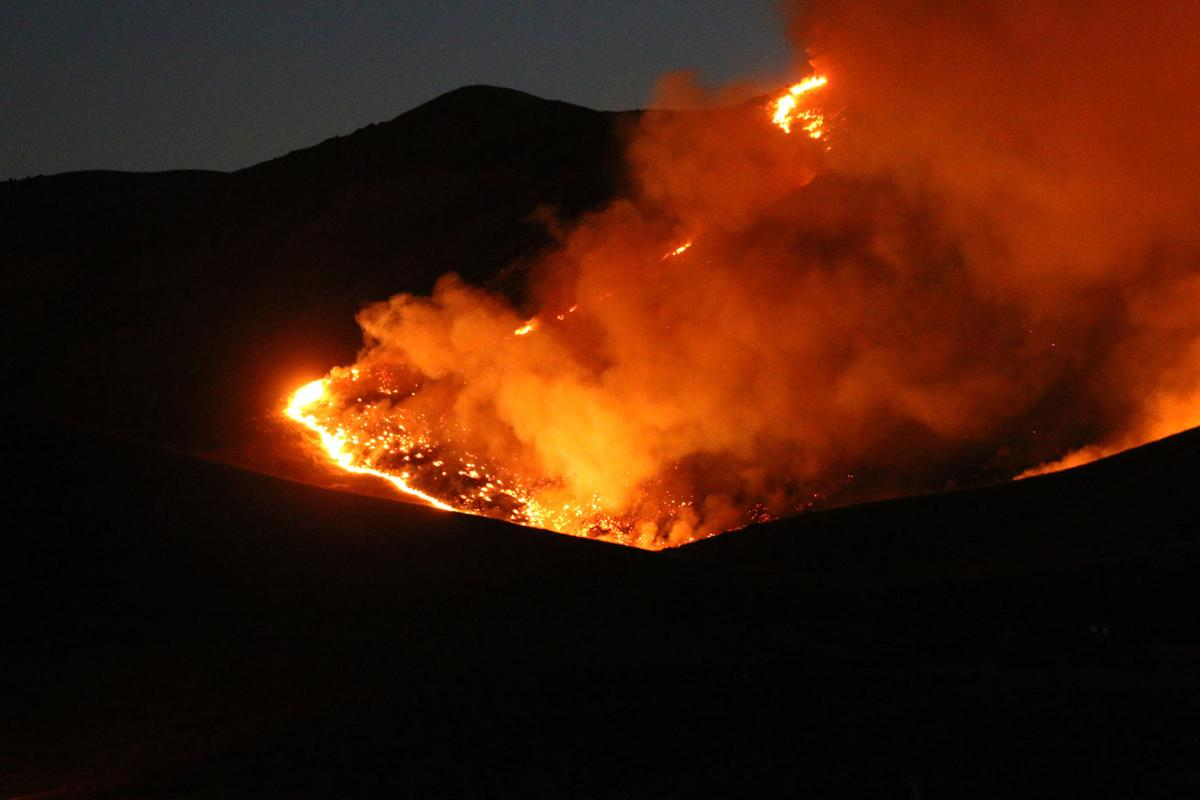 Fire in Del Puerto Canyon June 25