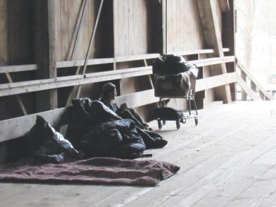 Homeless in Felton