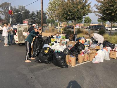 Donations were collected to send to the victims of the Camp Fire
