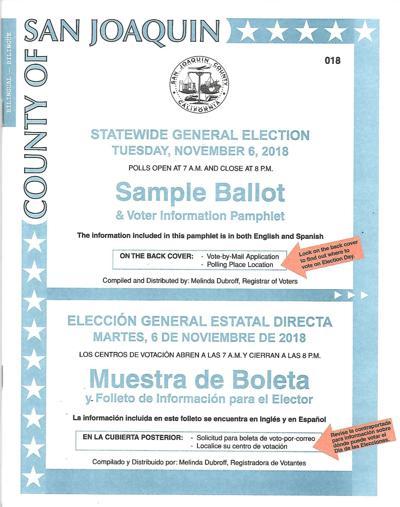 November 2018 sample ballot