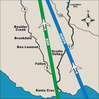 Dueling flight paths over Santa Cruz Mountains