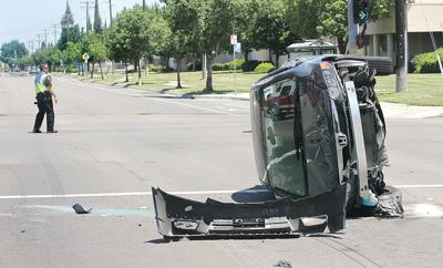 Rollover on Corral Hollow Road