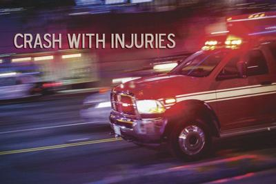 POLICE NEWS: Two injured in buggy-auto crash