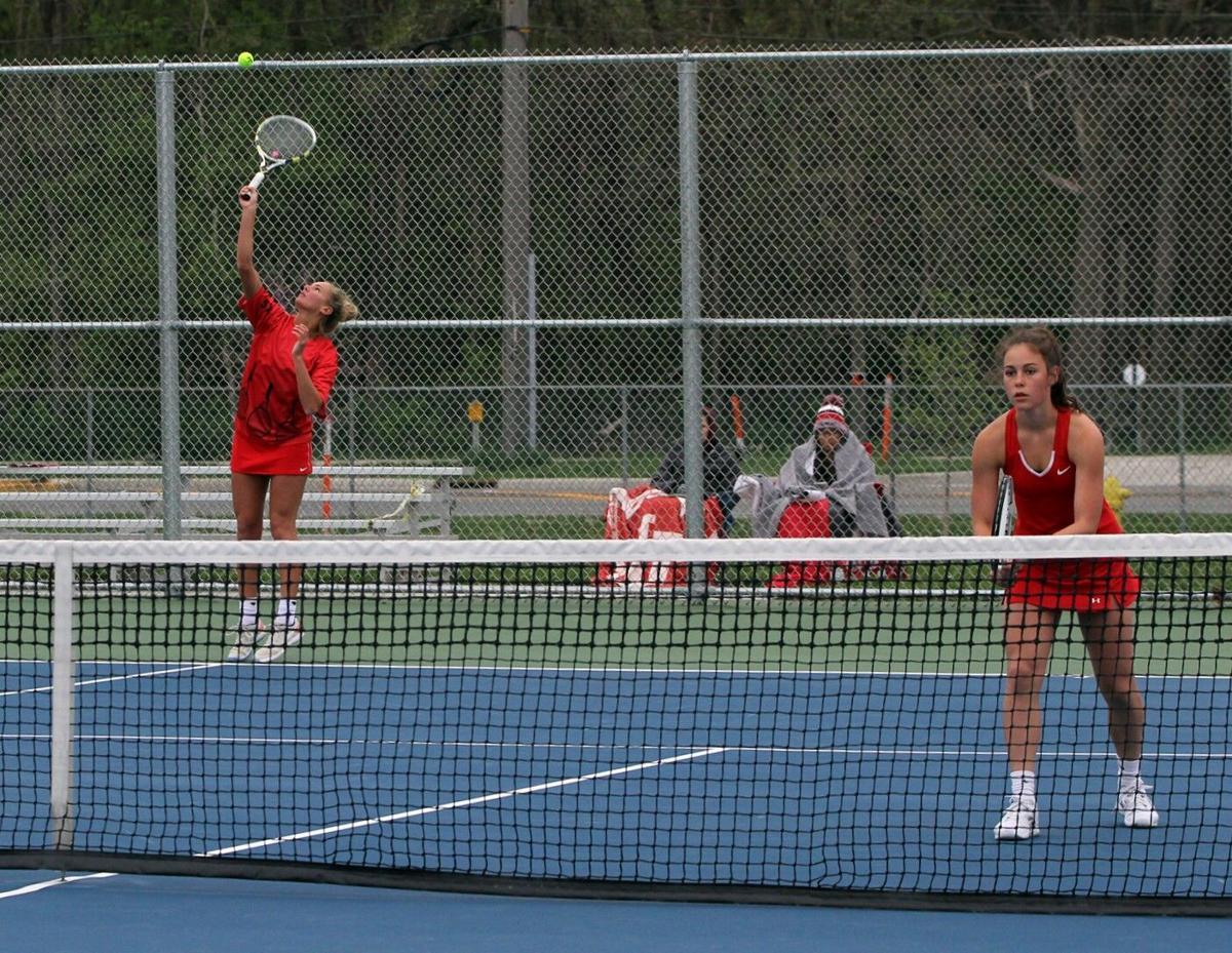 Kathryn Detweiler Joya Drenth Goshen Plymouth girls tennis 5 4 2021 (copy)