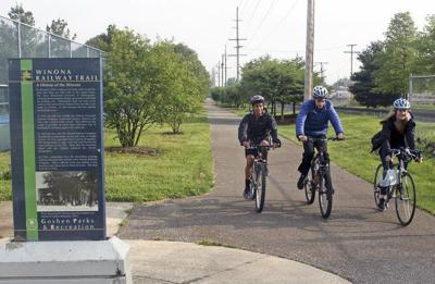 One of many foundation grants will extend Goshen bicycle trail, fund Bethany sports facilities