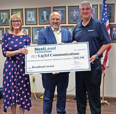 State grant helping to fund expansion of fiber optics in Noble County
