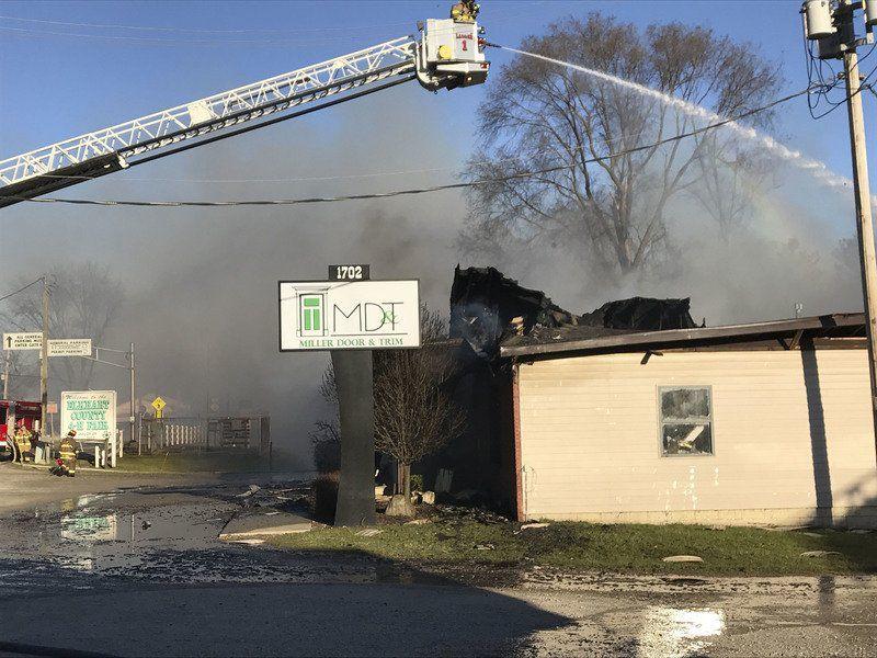 Fire Destroys Building At Goshen Door Trim