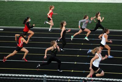 Goshen Northridge Warsaw 100 girls track 4 14 2021
