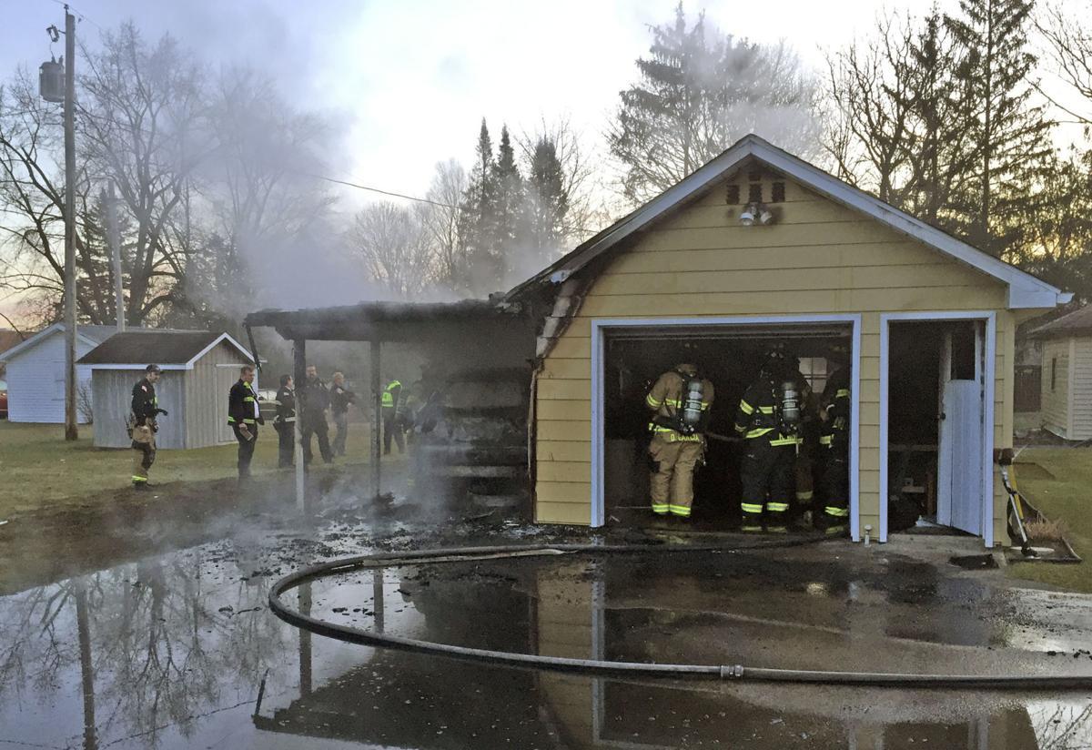 West Goshen garage fire
